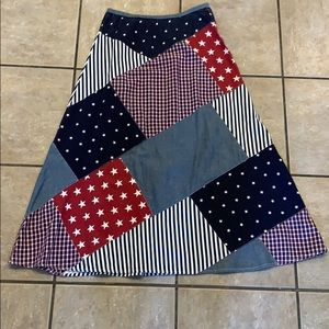 Vintage Carole Little Stars and Stripes Skirt